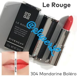 2/$30 Givenchy Le Rouge Lipstick Mandarine Red